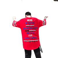 2019 Fashion Summer Harajuku T shirt Men Hip Hop Streetwear Casual Graphic Mens Tshirts Print Long Rock t Shirt Funny Tops Tees