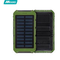 Solar Charger 10000mAh Solar Power Bank Charger Waterproof Portable Backup External Battery Pack For Cellphone Tablet