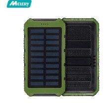 Cargador Solar Solar Power Bank 10000 mAh Paquete Externo de La Batería de Reserva Portable para el Teléfono Móvil A Prueba de agua, Tablet, cámara