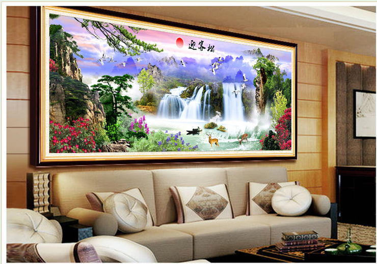 Unfinished cross stitch unfinished home decor Diy 5d diamond painting landscape full diamond mosaic crafts Welcome Song