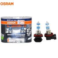 OSRAM H11 3600K NIGHT BREAKER UNLIMITED 12V 55W Super Bright Lamps Headlight Hi Low Bulbs 64211NBU