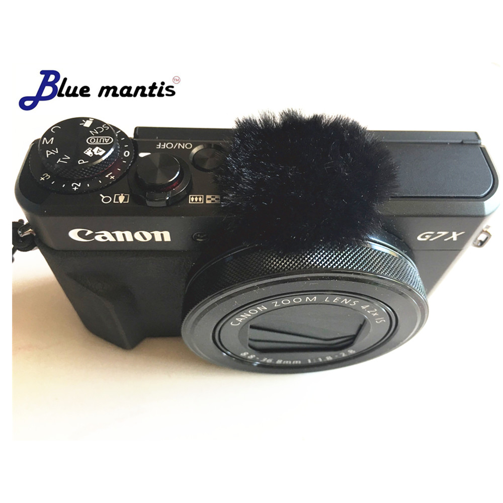 6Pcs Wind Muffler Dead Cat For Canon G7x Mark II Micromuff For  Microphone Cover For Canon G7X MARK2 Blue Mantis