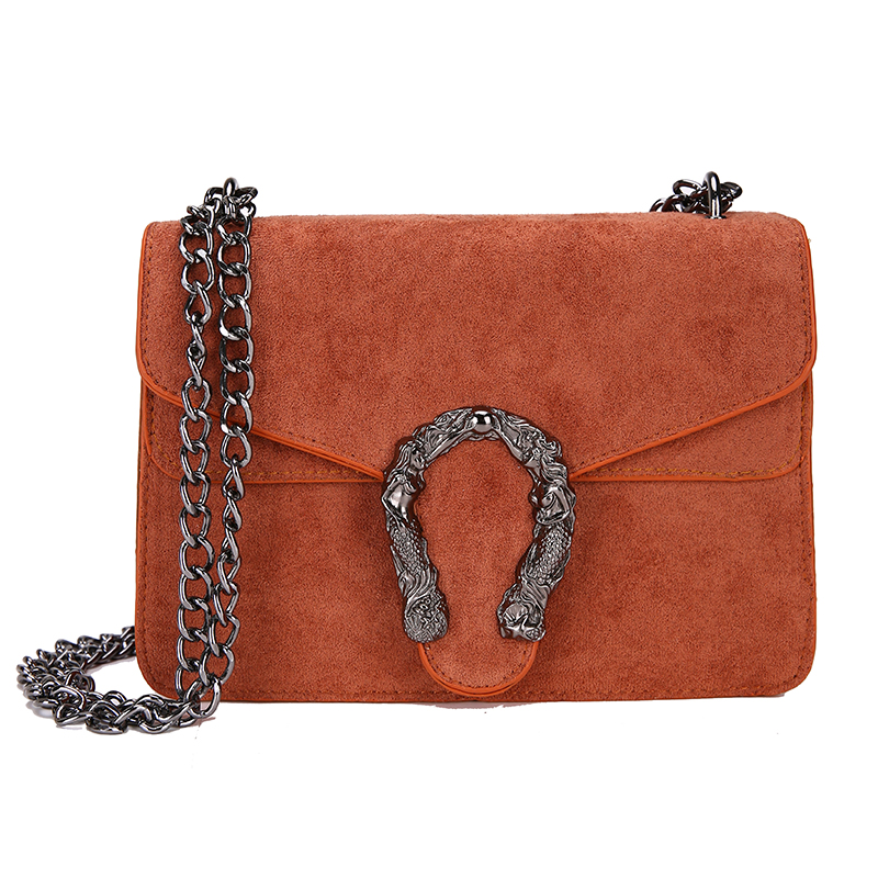 Image 5 - DORANMI Classic Suede Women Shoulder Bag 2019 Chic Autumn Flap Bags  Crossbody Bag Messenger Chain Strap Bolsos Mujer DJB778-in Shoulder Bags from Luggage & Bags