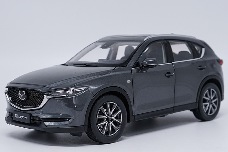 1:18 Diecast Model for Mazda CX 5 2018 Gray SUV Alloy Toy Car Miniature Collection Gift CX5 CX 5