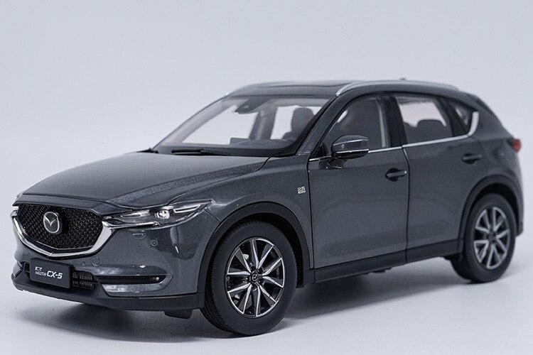 1:18 Miniature: pour Mazda CX-5 2018 Gris SUV Alliage Jouet Voiture Miniature Collection Cadeau CX5 CX 5