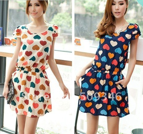 Casual summer dresses short sleeve