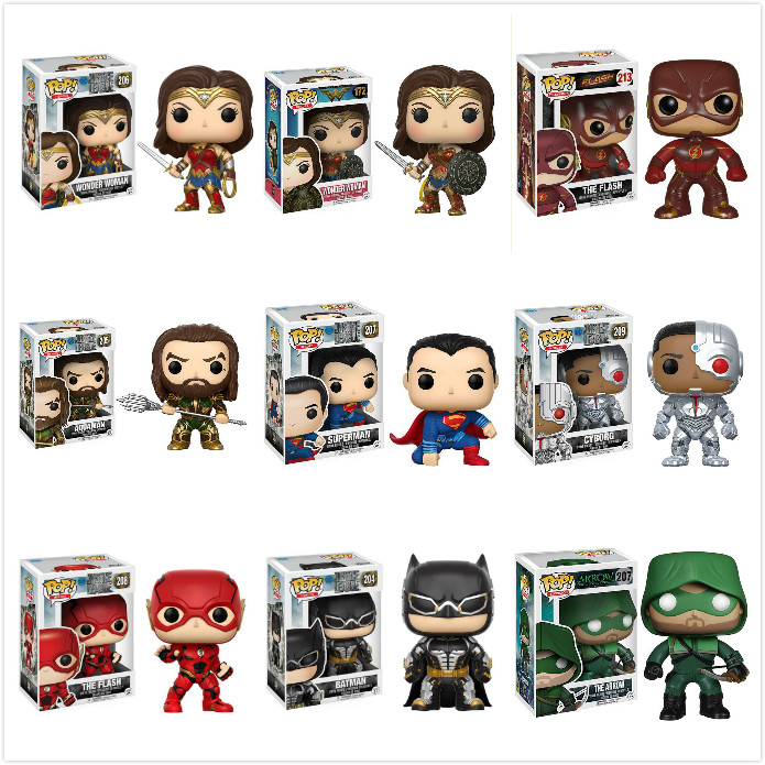 Funko Pop Wonder Woman Superman Batman Collection Model Toys Movie Figure Anime Kids Toys For Children GiftFunko Pop Wonder Woman Superman Batman Collection Model Toys Movie Figure Anime Kids Toys For Children Gift