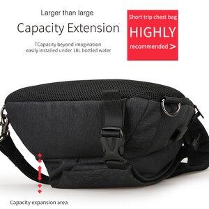 Image 4 - Mark Ryden New Arrivals USB Design High Capacity Chest bag Men Crossbody Bag suit for 9.7 inch Pad  Water Repellent Shoulder Bag