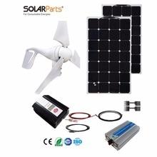 Boguang 1x 400W Wind Turbine 200W Solar Hybrid solar system DIY kit solar panel home house