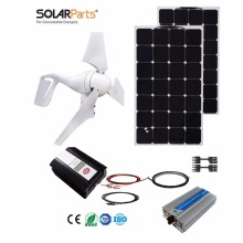 Boguang 1x 400W Wind Turbine+200W Solar Hybrid solar system DIY kit solar panel home house module mobile dc 12v/24v off grid tie