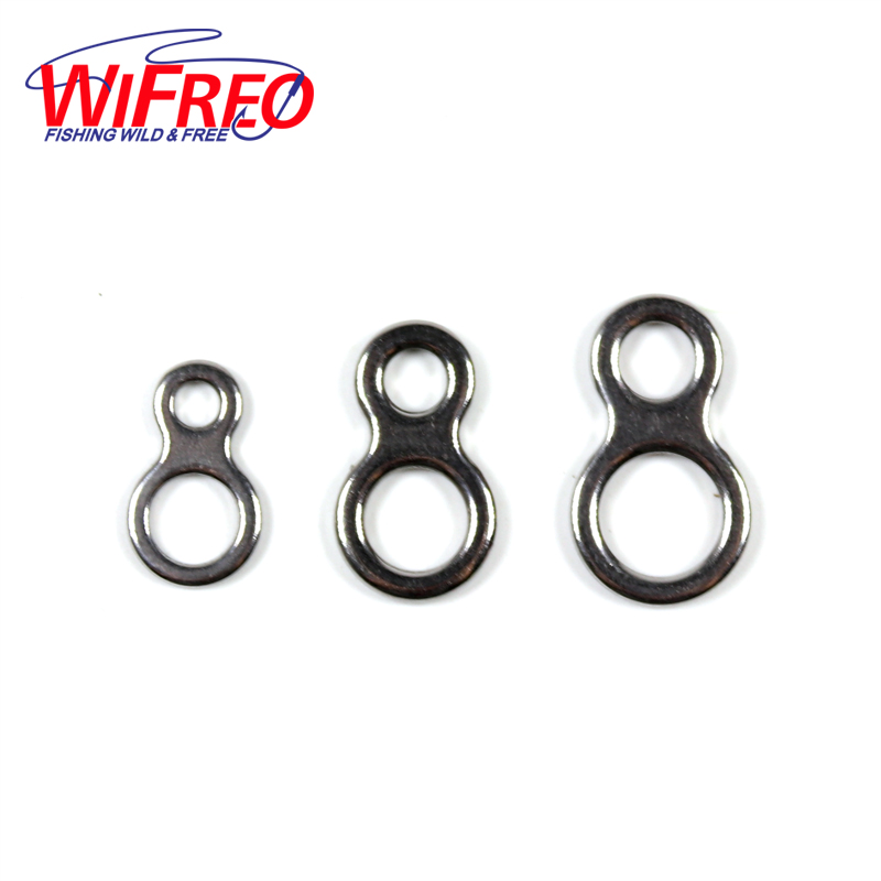 Wifreo 10pcs/bag Saltwater Fishing Tackle 8 Shape Stainless Steel Ring Assist Hook Connect Rings Saltwater Fishing Accessory цена и фото