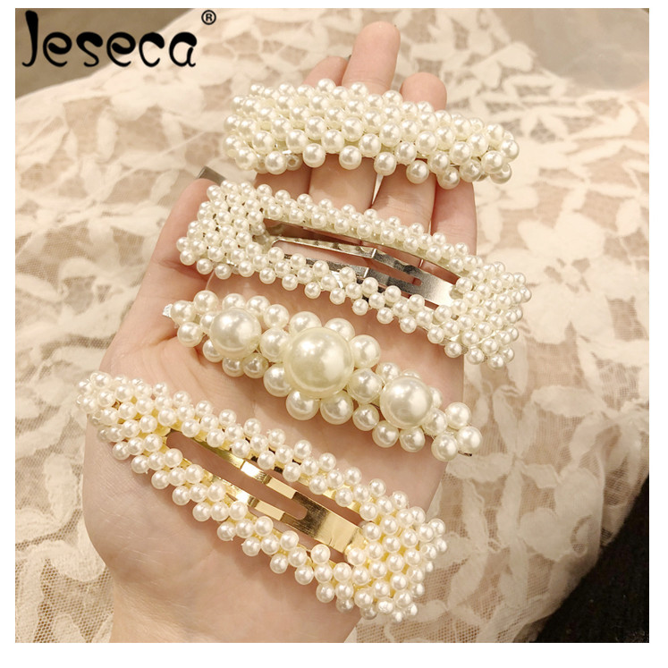 Hot Popular Pearl Hairgrip Elegant Women Hair Clips for Girl Princess Retro Gold Sliver Pin Barrette Hairclip Headdress Headwear