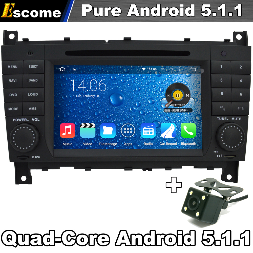 pure android 5 1 car dvd player for mercedes benz clk cls. Black Bedroom Furniture Sets. Home Design Ideas