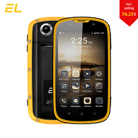 E & L W5 휴대 전화 안드로이드 원래 전화 방수 내진성 전화 쿼드 코어 터치 전화 스마트 폰 4 그램 잠금 해제 핸드