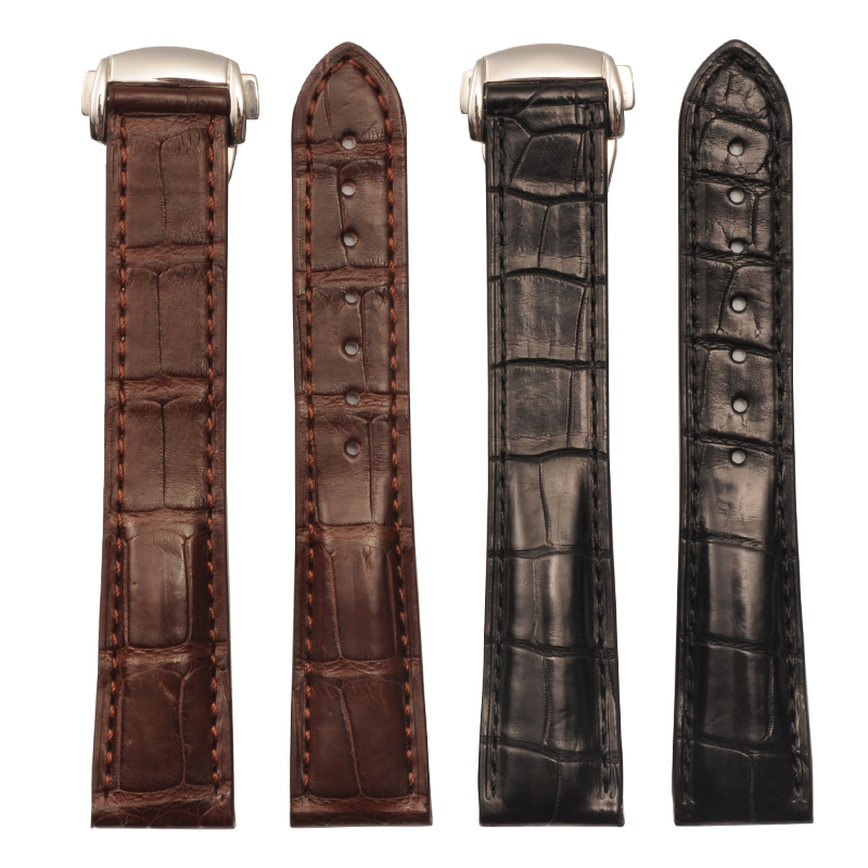 Watch Band For Omega Alligator Leather Strap For De Ville For Aqua Terra Croc Watches Straps For Men 19 20mm Black Bracelet Belt de aqua ринго 50