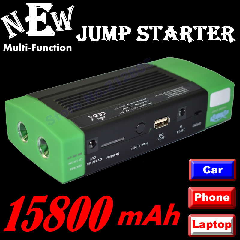 Free shipping 15800mAH Multi-Function Tablets / Notebook / phone / car Jump Starter Auto EPS Jump Starter Emergency Start Power 2016 hot multifunctional cp18 68800ma car charger pack vehicle jump starter multi function auto start emergency power supply