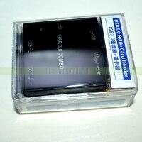 50pcs Lots Backlight Design USB 3 0 COMBO 3 Port USB3 0 HUB SD Micro SD