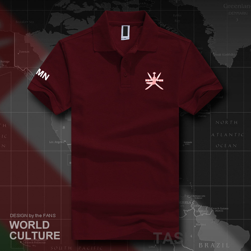 Sultanate of Oman OMN   polo   shirts men short sleeve white brands printed for country 2018 cotton nation emblem new fashion