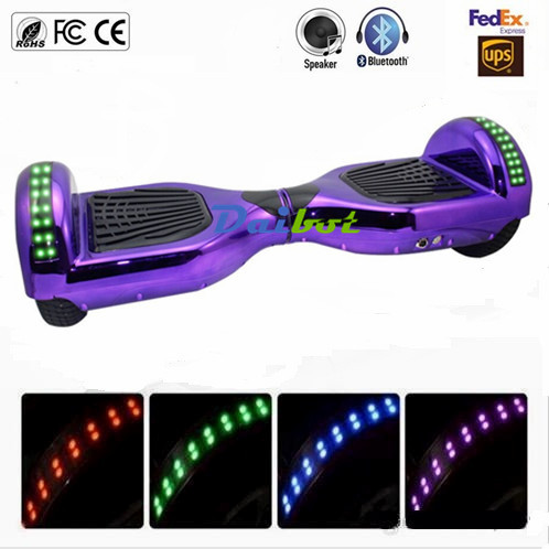 France USA Stock 6.5'' hoverboard electric scooters self balancing scooter skateboard bluetooth smart balance wheel Carring Bag child skateboard car foot scooters breaststroke scooter kick scooters children best birthday gift tb331116