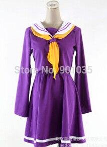 FREE SHIPPING No Game No Life Sailor Suit Purple Halloween Costume School Uniform Girls Dress