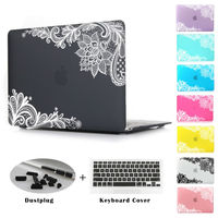 New Fashion For Girls Matte Rubberized Lace Hard Case Cover Macbook Air 13 12 11 Pro