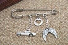 12pcs Supernatural inspired Destiel themed charm kilt pin brooch 38mm