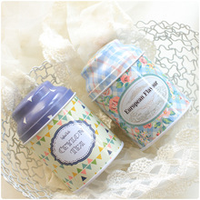 Medium sized Sealed Tinplate wedding candy tea Storage Boxes with cover 6pcs/lot