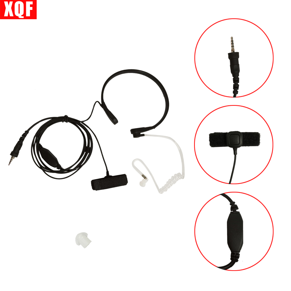 XQF Throat Mic Microphone Covert Acoustic Tube Earpiece