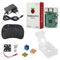 Hot RPI 3 Kit Original Raspberry Pi 3 Model B Board Acrylic Case Cooling Fan Heat
