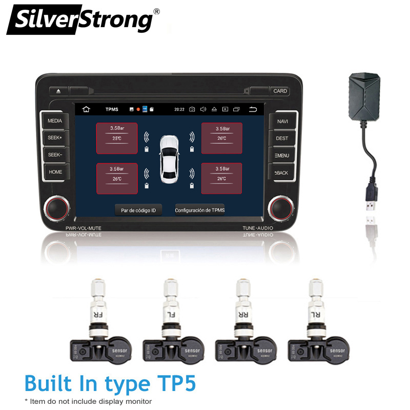 Tire Pressure Monitor >> Us 27 8 40 Off Silverstrong Tpms For Android Car Dvd Car Tire Pressure Monitoring System Usb Tire Sensors Alarm Monitoring System 4pcs Kit In Tire