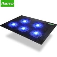 5 Fan 2 USB Laptop Cooler Cooling Pad Base LED Notebook Cooler Computer USB Fan Stand