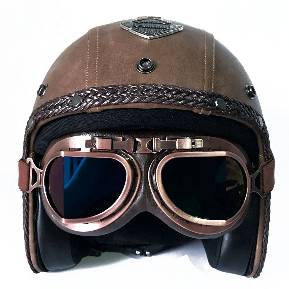 Retro Motorcycle Helmet For Harley Full Face Moto Motocross Helmet Open Face Vintage Motorbike KTM Scooter