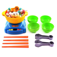 Kids Toys Pretend Kitchen Cooking Hot Pot Food Tools Kits Play House Toy Cookware Set Clipping Food Family Game Education Gifts