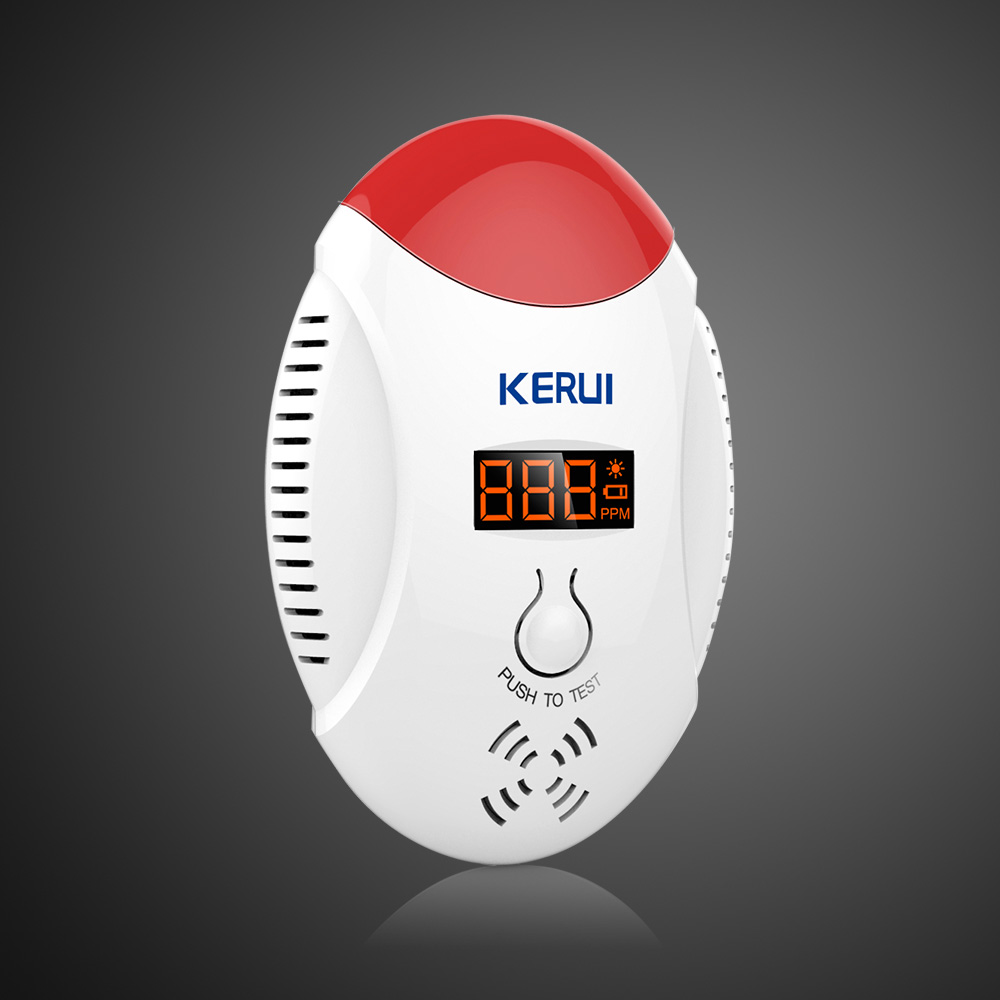 Kerui Wireless LED digital display Carbon Monoxide Gas sensor CO detector Alarm Warning Alarm Sensor free shipping 2017 s107 10 1 inch android 6 0 call phone octa core tablet pc dual sim 4g lte 4gb 64gb gps ips screen bluetooth