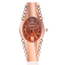2016 New hot sell popular designer rhinestone watch rose gold ladies Bangle Watch Fashion women quartz watches relogio feminino