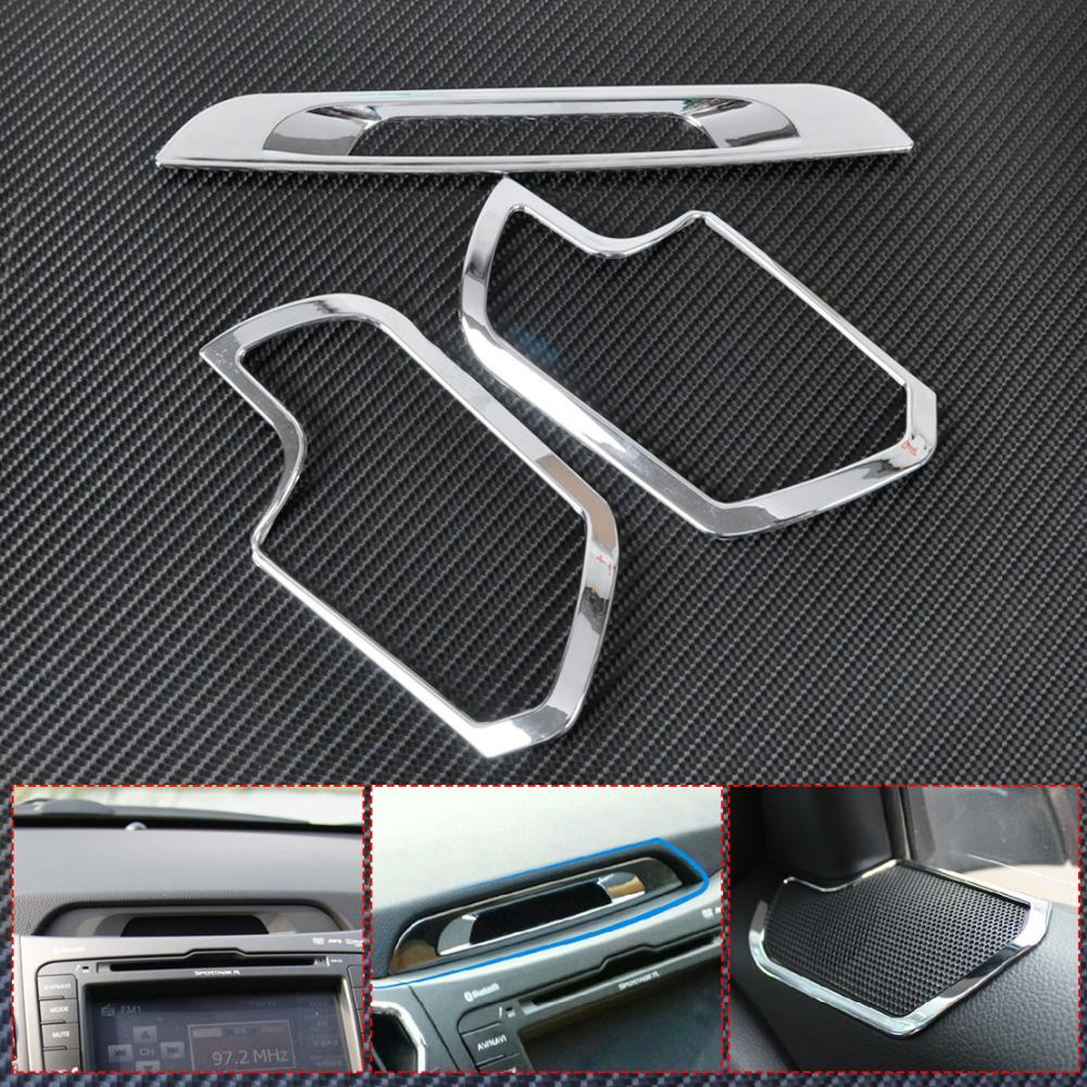 2012 Kia Sportage Interior: CITALL New Chrome Interior Speaker Cover + Console Display