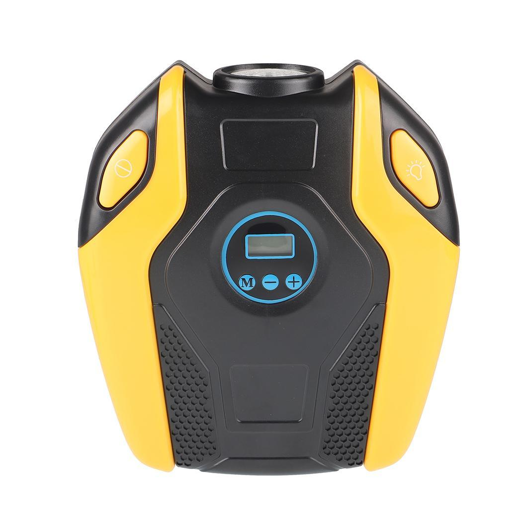 12V Digital Portable Car Tire Inflator Pump Air DC Compressor With 10A Yellow, Grey LED approx.3 meters Light