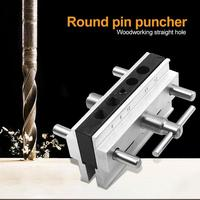 Woodworking Vertical Hole Punch Locator Puncher Doweling Jig Drill Guide steel, aluminum alloy 10 55mm/0.39 2.17