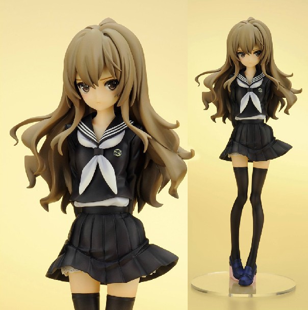 Japanese Anime Toradora! Aisaka Taiga PVC Action Figure Lovely Girl Model Collection Toys Gifts 25cm Free Shipping in stock black zenfone 6 lcd display and touch screen assembly with frame for asus zenfone 6 free shipping