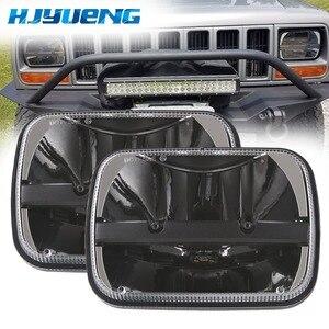 """Image 1 - 1 pc led square led headlight 5x7inch led for truck headlight kit 5x7""""square led lighting for Cherokee XJ Trucks for MJ Comanche"""