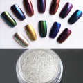 1g/Box Bling Mirror Nail Glitter Powder Gold/Sliver Nail Art Sequins Chrome Pigment Glitters