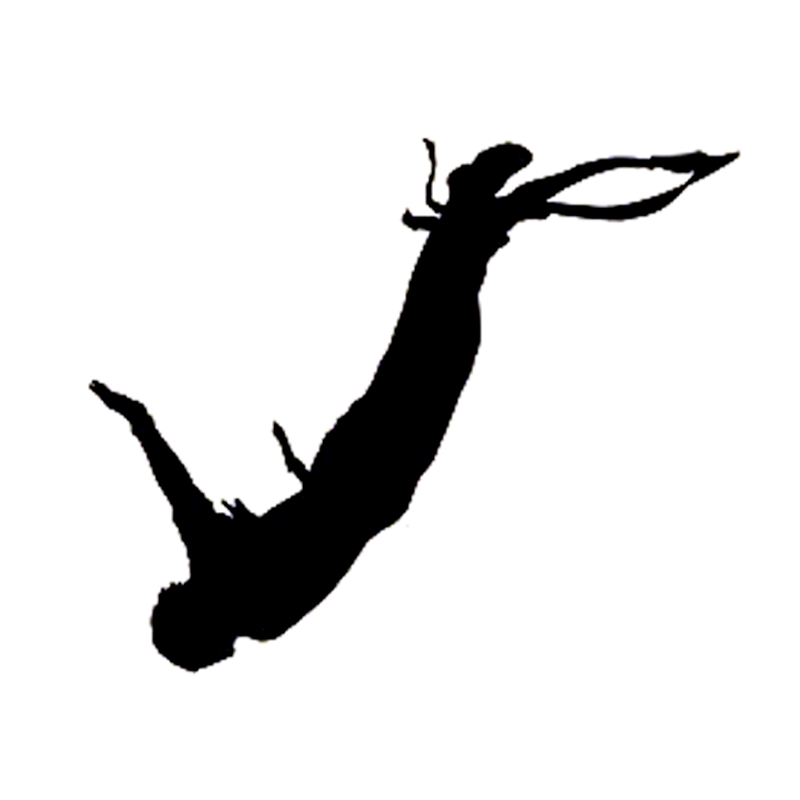 Strong-Willed Automobile,14.7cm*12cm Interesting Bungee Jumping Guy Extreme Sports Car Sticker Vinyl Lu-0999 Car Stickers