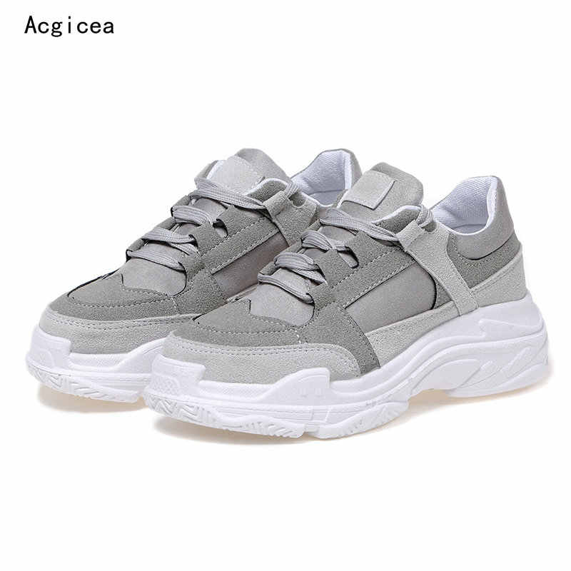 13e8029846 2018 New Autumn Flat Heels Shoes Woman Popular and Comfortable Women's  Casual Sneakers Female 5cm Platform