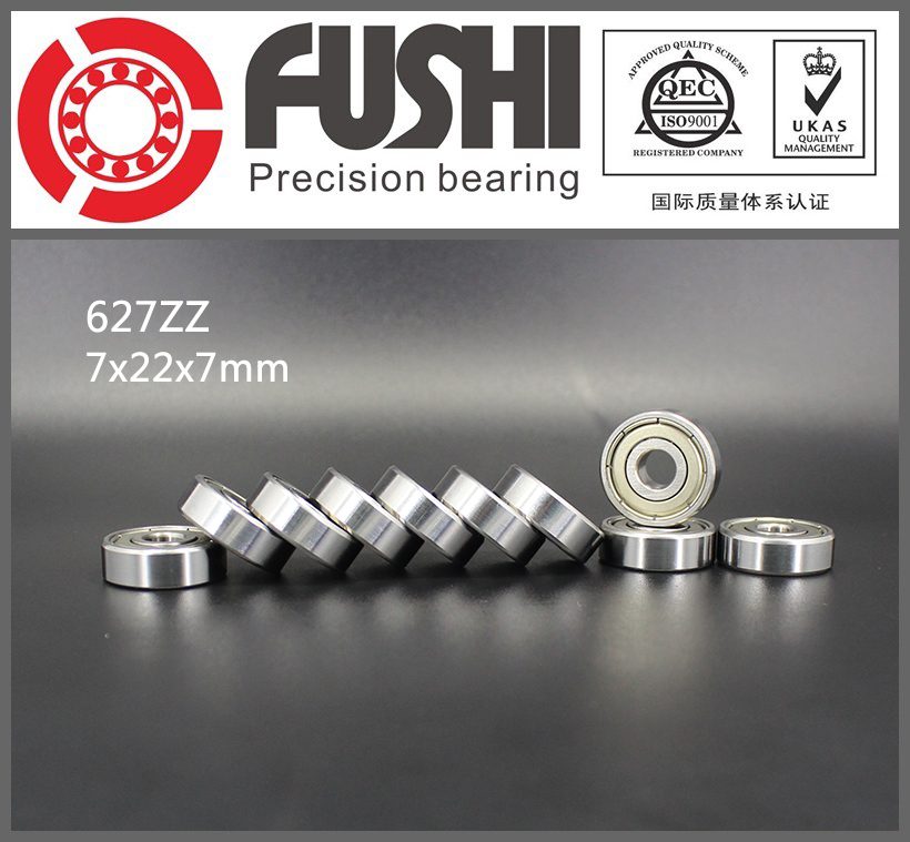 627ZZ Bearing ABEC-5 10PCS 7x22x7 mm Miniature 627Z Ball Bearings 627 ZZ EMQ Z3V3 Quality 50pcs bearing 627zz 627 2z 7x22x7 627 627z mochu shielded miniature ball bearings mini ball bearing deep groove ball bearings