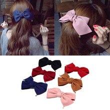 Horquilla con lazo grande, accesorios para el cabello, pasador, tocado, pinzas de pelo para mujer y Chica, estilo coreano a la moda