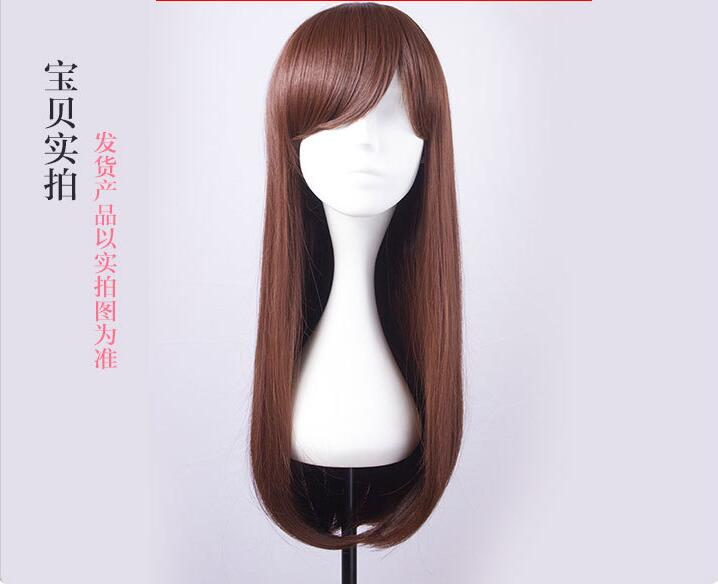 free shipping 2017 NEW High quality D.Va cosplay wig Overwatch Game OW cowtume play wigs Halloween costumes hair