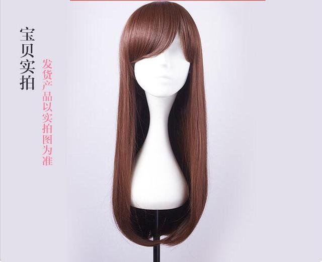 Free Shipping 2017 New High Quality D.Va Cosplay Wig Overwatch Game Ow Cowtume Play Wigs Halloween Costumes Hair by Coldker