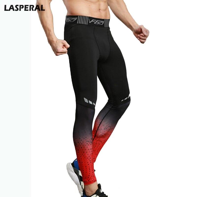 LASPERAL 2018 Track Sweatpants Jogger Men Fashion High Waist Elastic Pants Male Slim Fit Trousers Perfume Masculino Compression