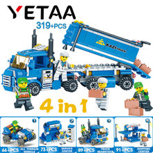 YETAA Urban Freight Model Building legoed style Toys Bricks Truck Minecraft Building Blocks Education Gifts & Toys For Children(China)