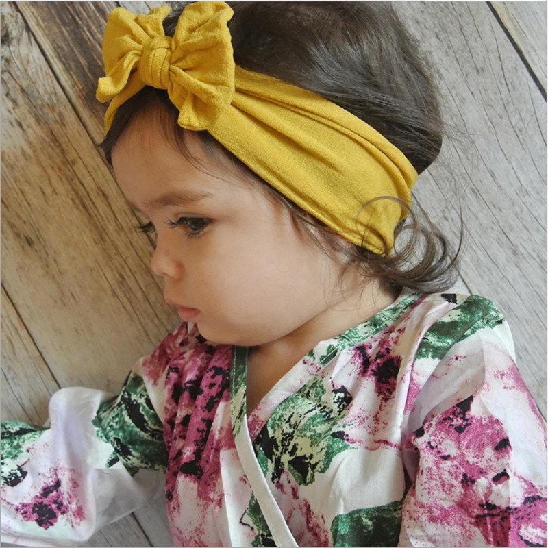 Cute Baby Toddler Infant Bowknot Headband Stretch Hairband Headwear New Arrival Dropshipping